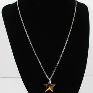 Crystal AB Star Necklace NWOT